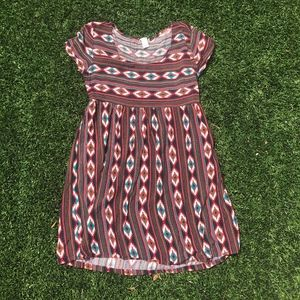Abstract Baby Doll Dress Sz S